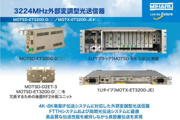 3224MHz外部変調型光送信器